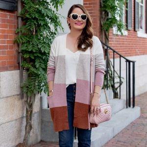 NWT Madewell Ryder Colorblock Stripe Sweater sz L
